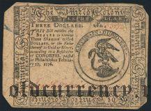 США, 3 доллара 1776 года