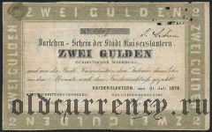 Германия, Кайзерслаутерн, 2 гульдена 1870 года