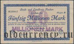 Ахен (Aachen), 50.000.000 марок 1923 года
