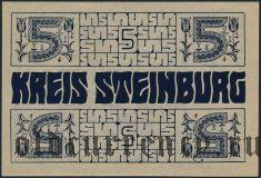 Штайнбург (Steinburg), 5 марок 1918 года