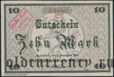 Рудольштадт (Rudolstadt), 10 марок 1918 года