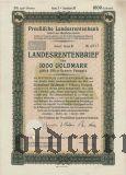 Preussische Laandesrentenbank, Берлин, 1000 голдмарок 1929 года