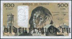 Франция, 500 франков 1987 года
