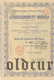 Общество Государево-Байракских каменноугольных копей, рудников и заводов, 250 франков 1899 года