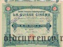 Франция, La Suisse Cinema, 100 франков 1919 года