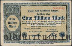 Ахен (Aachen), 1.000.000 марок 20.07.1923 года