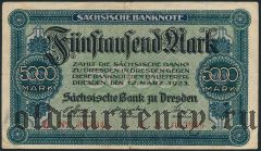 Дрезден (Dresden), 5.000 марок 1923 года
