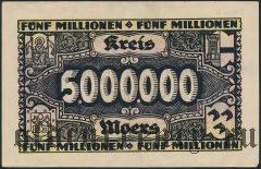 Моерс (Moers), 5.000.000 марок 1923 года
