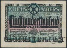 Моерс (Moers), 500.000 марок 1923 года