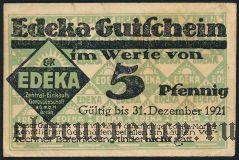 Берлин (Berlin), Edeka, 5 пфеннингов 1921 года