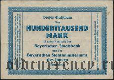 Мюнхен (München), 100.000 марок 1923 года