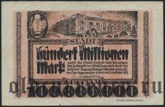 Крефельд (Crefeld), 100.000.000 марок 1923 года