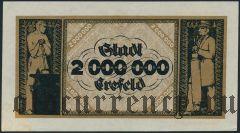 Крефельд (Crefeld), 2.000.000 марок 1923 года. Вар. 1