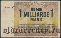 Хамборн (Hamborn), 1.000.000.000 марок 1923 года. Вар 1