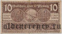 Дюрен (Düren), 10 пфеннингов 1919 года