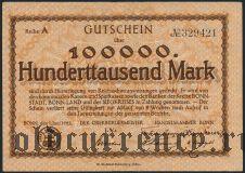 Бонн (Bonn), 100.000 марок 1923 года