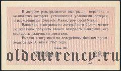 Денежно-вещевая лотерея 1961 года, 4 выпуск