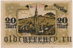Ройтлинген (Reutlingen), 20 марок 1918 года