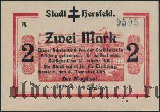 Херсфельд (Hersfeld), 2 марки 1918 года