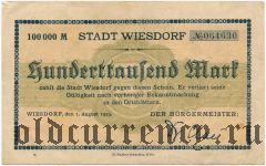 Висдорф (Wiesdorf), 100.000 марок 1923 года