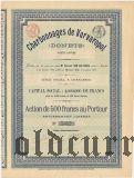 Общество Варваропольских каменноугольных копей, 500 франков 1896 года