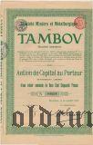 Тамбовское горно-металлургическое общество, акция на 250 франков 1911 года