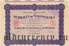 Польша, Французское общество Малопольских нефтепродуктов, 100 франков