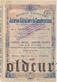 Торецкое сталелитейное и механическое общ. в Дружковке (Донецк), привилегированная акция 1906 года, с надпечаткой