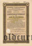 Preussische Laandesrentenbank, Берлин, 1000 рейхсмарок 1935 года