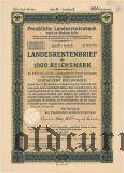 Preussische Laandesrentenbank, Берлин, 1000 рейхсмарок, октябрь 1939 года