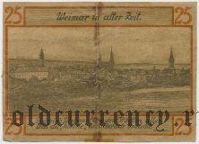 Веймар (Weimar), 25 пфеннингов 1921 года