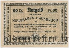 Нойграбен - Хаусбрух (Neugraben-Hausbruch), 60 пфеннингов 1921 года