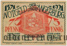Ангербург (Angerburg), 75 пфеннингов 1921 года