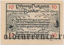 Ридер (Rieder), 10 пфеннингов 1921 года