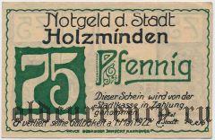 Хольцминден (Holzminden), 75 пфеннингов 1922 года