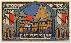Хальберштадт (Halberstadt), 10 пфеннингов 1920 года