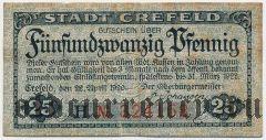 Крефельд (Crefeld), 25 пфеннингов 1920 года