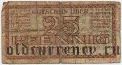 Крефельд (Crefeld), 25 пфеннингов 1922 года