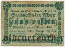 Вибельскирхен (Wiebelskirchen), 25 пфеннингов 1920 года