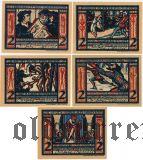 Мюнстер (Münster), 5 нотгельдов 1921 года. Вар. 1