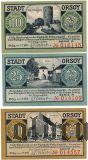 Орзой (Orsoy), 3 нотгельда 1921 года