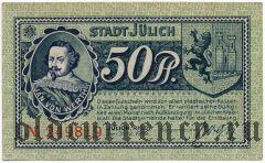 Юлих (Jülich), 50 пфеннингов 1919 года