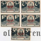 Бютов (Bütow), 5 нотгельдов (1922) года