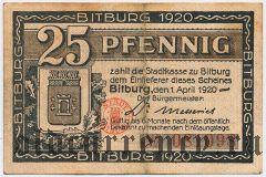 Битбург (Bitburg), 25 пфеннингов 1920 года