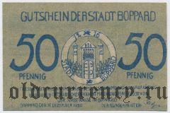 Боппард (Boppard), 50 пфеннингов 1920 года