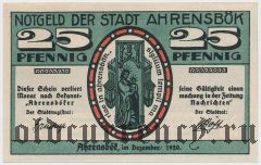 Аренсбёк (Ahrensbök), 25 пфеннингов 1920 года