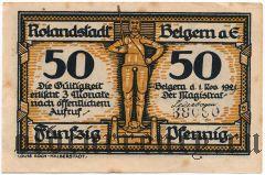 Бельгерн (Belgern), 50 пфеннингов 1921 года