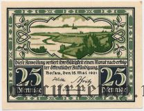 Бозау (Bosau), 25 пфеннингов 1921 года