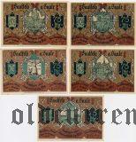 Заальфельд (Saalfeld), 5 нотгельдов 1921 года