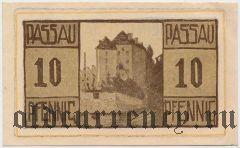 Пассау (Passau), 10 пфеннингов